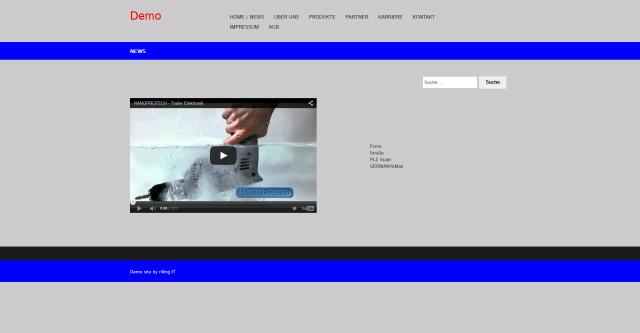 Konzeptstudie Webseite