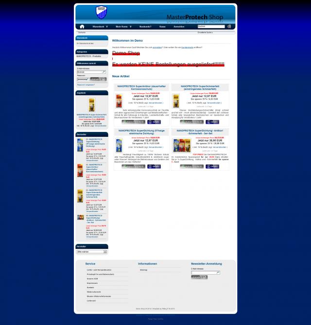 Konzeptstudie Online Shop
